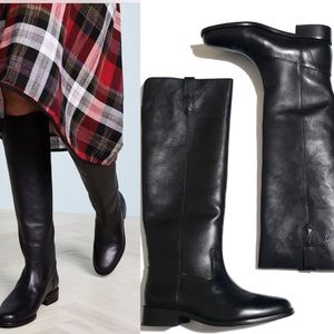 Madewell | NWT black Allie knee high riding boots